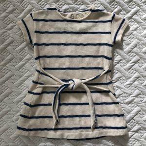 Zara Striped Dress With Front Tie